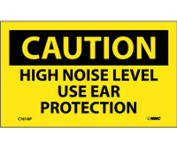 Caution High Noise Level Use Ear Protection 3X5 Ps Vinyl 5/Pk