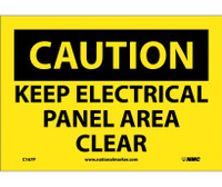 Caution Keep Electrical Panel Area Clear 10X7 Ps Vinyl