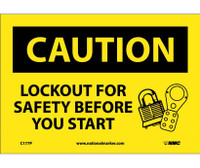 Caution Lockout For Safety Before You Start 7X10 Ps Vinyl