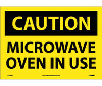Caution Microwave Oven In Use 10X14 Ps Vinyl