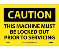 Caution This Machine Must Be Locked Out Prior To Servicing 7X10 Ps Vinyl