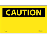 Caution (Header Only) 3X5 Ps Vinyl 5/Pk