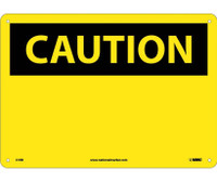 Caution (Header Only) 10X14 Rigid Plastic