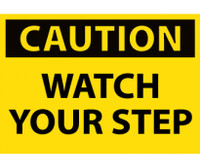 Caution Watch Your Step 3X5 Ps Vinyl 5/Pk