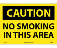 Caution No Smoking In This Area 10X14 Ps Vinyl
