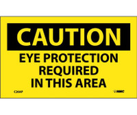 Caution Eye Protection Required In This Area 3X5 Ps Vinyl 5/Pl