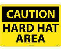 Caution Hard Hat Area 14X20 .040 Alum