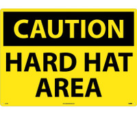 Caution Hard Hat Area 20X28 .040 Alum