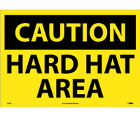 Caution Hard Hat Area 14X20 Ps Vinyl