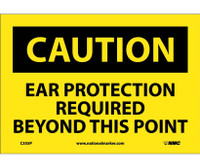 Caution Caution Ear Protection Required Beyond 7X10 Ps Vinyl