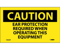 Caution Ear Protection Required When Operating This Equipment 3X5 Ps Vinyl 5/Pk