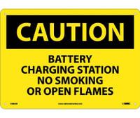 Caution Battery Charging Station No Smoking. . . 10X14 .040 Alum