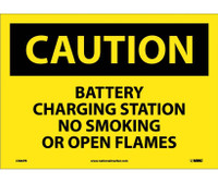 Caution Battery Charging Station No Smoking. . . 10X14 Ps Vinyl
