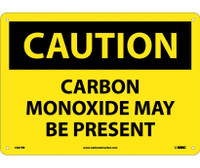 Caution Carbon Monoxide May Be Present 10X14 Rigid Plastic