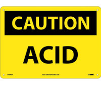 Caution Acid 10X14 .040 Alum