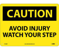 Caution Avoid Injury Watch Your Step 10X14 .040 Alum