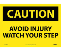 Caution Avoid Injury Watch Your Step 10X14 Ps Vinyl