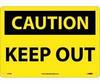 Caution Keep Out 10X14 Fiberglass