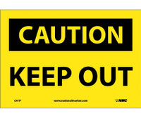 Caution Keep Out 7X10 Ps Vinyl