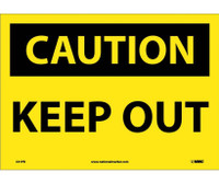 Caution Keep Out 10X14 Ps Vinyl