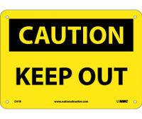 Caution Keep Out 7X10 Rigid Plastic