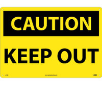 Caution Keep Out 14X20 Rigid Plastic