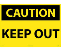 Caution Keep Out 20X28 Rigid Plastic