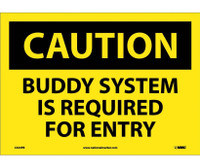 Caution Buddy System Is Required For Entry 10X14 Ps Vinyl