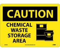 Caution Chemical Waste Storage Area Graphic 10X14 .040 Alum