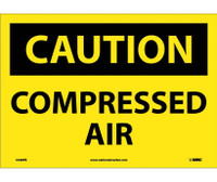Caution Compressed Air 10X14 Ps Vinyl