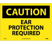 Caution Ear Protection Required 10X14 Ps Vinyl