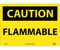 Caution Flammable 10X14 .040 Alum