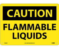 Caution Flammable Liquids 10X14 .040 Alum