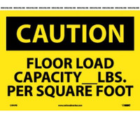 Caution Floor Load Capacity__Lbs. Per Square Foot 10X14 Ps Vinyl