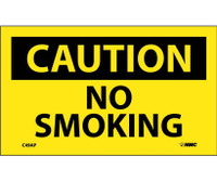 Caution No Smoking 3X5 Ps Vinyl 5Pk