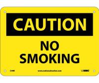Caution No Smoking 7X10 Rigid Plastic