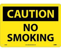 Caution No Smoking 10X14 Rigid Plastic