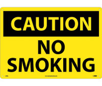 Caution No Smoking 14X20 Rigid Plastic