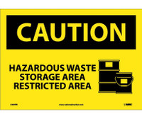 Caution Hazardous Waste Storage Area Restricted Area Graphic 10X14 Ps Vinyl