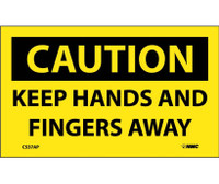 Caution Keep Hands And Fingers Away 3X5 Ps Vinyl 5/Pk