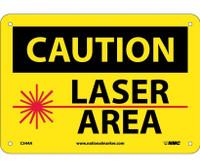 Caution Laser Area Graphic 7X10 .040 Alum