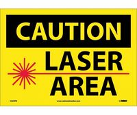 Caution Laser Area Graphic 10X14 Ps Vinyl