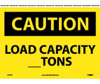 Caution Load Capacity__Tons 10X14 Ps Vinyl