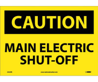 Caution Main Electric Shut-Off 10X14 Ps Vinyl