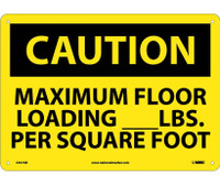 Caution Maximum Floor Loading__Lbs. Per Square Foot 10X14 .040 Alum