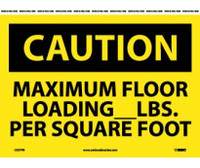 Caution Maximum Floor Loading__Lbs. Per Square Foot 10X14 Ps Vinyl