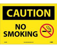 Caution No Smoking Graphic 10X14 Ps Vinyl