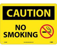 Caution No Smoking Graphic 10X14 Rigid Plastic