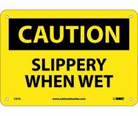 Caution Slippery When Wet 7X10 .040 Alum