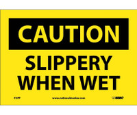 Caution Slippery When Wet 7X10 Ps Vinyl